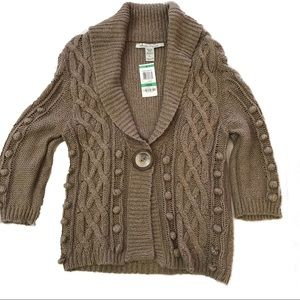 American Rag Brown Cardigan Sweater L